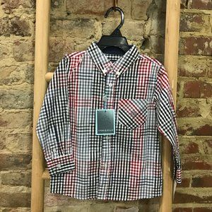 Multi Plaid L/S Button Down Shirt